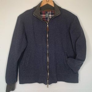 Eleventy jacket zip up  cotton collared
